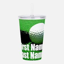 Golfball Acrylic Double-wall Tumbler
