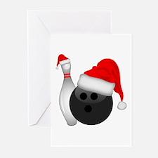 Christmas Bowling Greeting Cards
