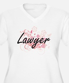 Lawyer Artistic Job Design with Plus Size T-Shirt