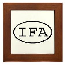 IFA Oval Framed Tile