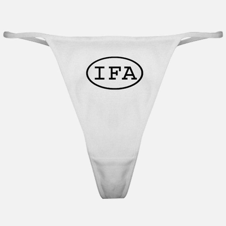 IFA Oval Classic Thong