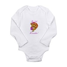 Cute Luau Long Sleeve Infant Bodysuit