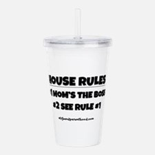 HOUSE RULES (black) Acrylic Double-wall Tumbler