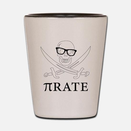 Pi - rate - Geek skull pirate Shot Glass