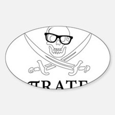 Pi - rate - Geek skull pirate Decal