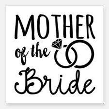 """Mother of the Bride Square Car Magnet 3"""" x 3"""""""