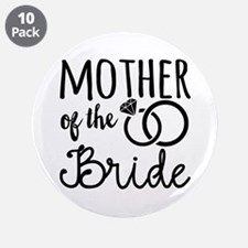 """Mother of the Bride 3.5"""" Button (10 pack)"""