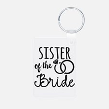 Sister of the Bride Aluminum Photo Keychain