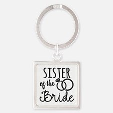 Sister of the Bride Square Keychain
