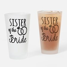 Sister of the Bride Drinking Glass