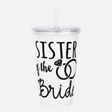 Sister of the Bride Acrylic Double-wall Tumbler