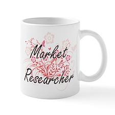 Market Researcher Artistic Job Design with Fl Mugs