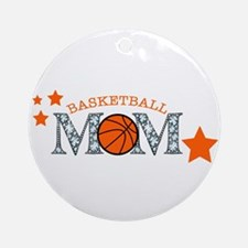 Basketball Mom Round Ornament