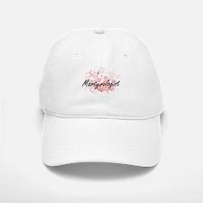 Martyrologist Artistic Job Design with Flowers Baseball Baseball Cap