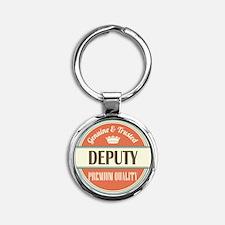 deputy Round Keychain