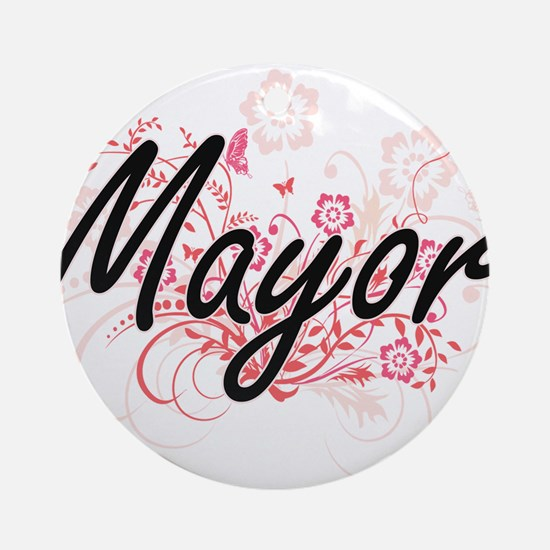 Mayor Artistic Job Design with Flow Round Ornament