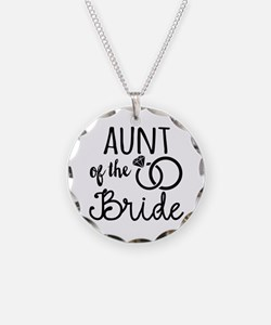 Aunt of the Bride Necklace Circle Charm