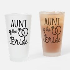 Aunt of the Bride Drinking Glass