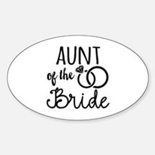 Aunt of the Bride Decal