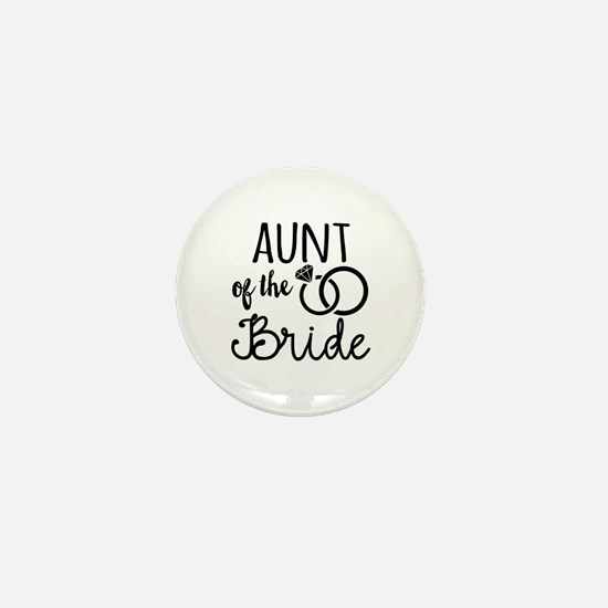 Aunt of the Bride Mini Button (10 pack)