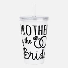 Brother of the Bride Acrylic Double-wall Tumbler
