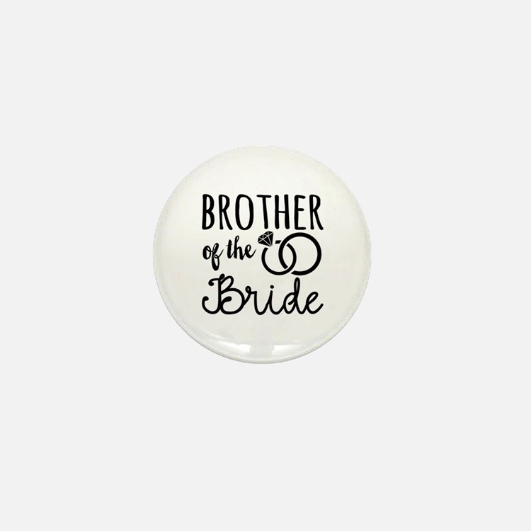 Brother of the Bride Mini Button (10 pack)