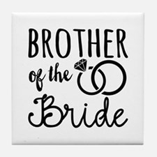 Brother of the Bride Tile Coaster