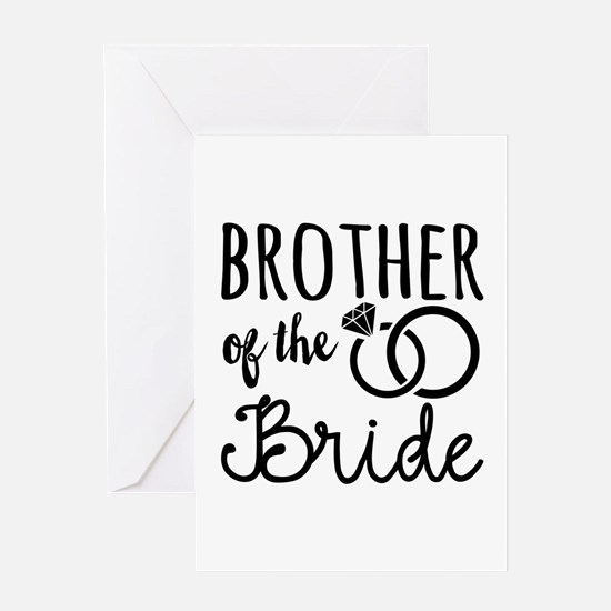 brother of the bride Greeting Card