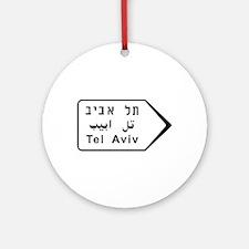tel aviv, israel road Round Ornament