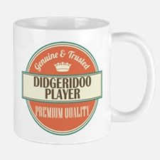 didgeridoo player vintage logo Mug