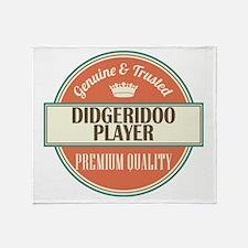 didgeridoo player vintage logo Throw Blanket
