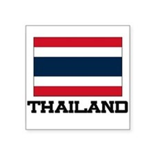 "Cute Thailand women Square Sticker 3"" x 3"""