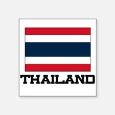 "Cute Thailand flag Square Sticker 3"" x 3"""