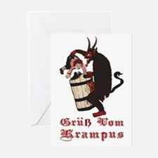 Krampus Gotcha! Greeting Cards