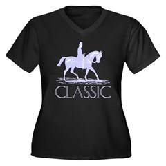 Classic Women's Plus Size V-Neck Dark T-Shirt