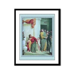 Jesus and the Children-Bloch-9x12 Framed Print