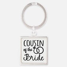 Cousin of the Bride Square Keychain