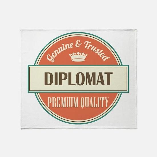 diplomat vintage logo Throw Blanket