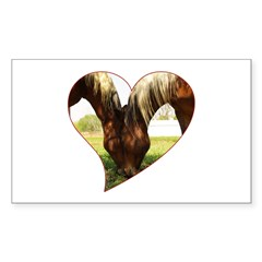 Horse Love Rectangle Decal