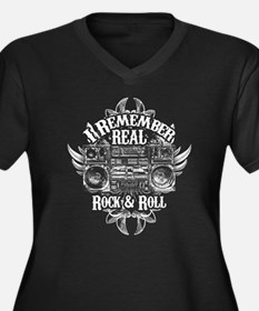 Real Rock And Roll V-Neck Plus Size T-Shirt