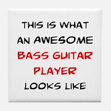 awesome bass guitar Tile Coaster