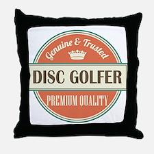 disc golfer vintage logo Throw Pillow