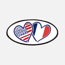 USA France Love Hearts Patch