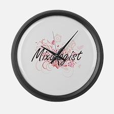 Mixologist Artistic Job Design wi Large Wall Clock