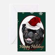 Christmas Pug Dog Greeting Cards