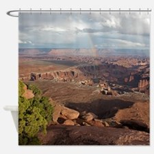 Rainbow in Canyonlands Shower Curtain