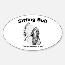 Sitting Bull: Die Sticker (Oval)
