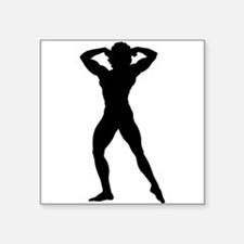 Female Bodybuilder Silhouette Sticker