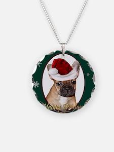 Christmas French Bulldog Necklace
