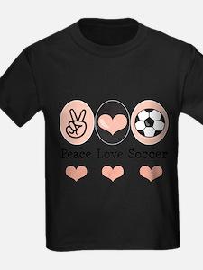 Cute Peace love soccer T